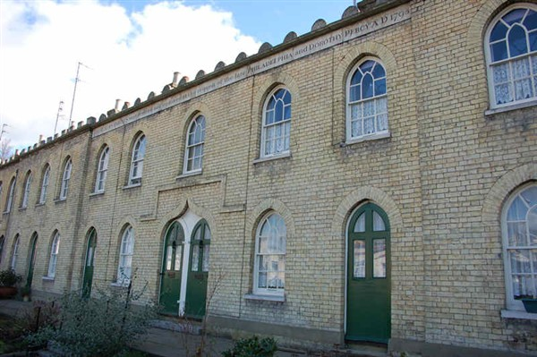 Front view of Percy Almshouses, Hanover, Brighton
