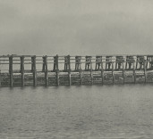 Photograph of East Pier strengthening, Blyth, Northumberland.