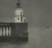 Photograph of East Pier Lighthouse, Blyth, Northumberland.