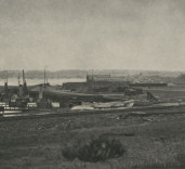 Photograph of West Side of South Harbour, Blyth, Northumberland.