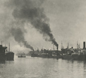Photograph of shipping in Middle Harbour, Blyth, Northumberland.