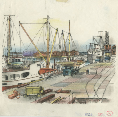 Smiths print of Blyth Harbour
