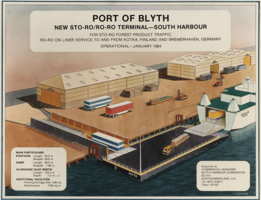 Photograph of  advertisement for Port of Blyth