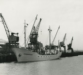 """Photograph showing ship """"Admiralengracht"""", Blyth Harbour, Blyth, Northumberland"""