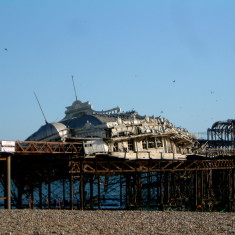 West Pier in ruins | Jane Jones (photographer)