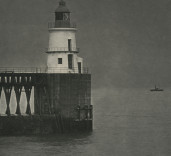 East Pier Lighthouse construction Port of Blyth Northumberland