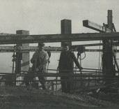 East Pier Lighthouse  construction. Port of Blyth Northumberland