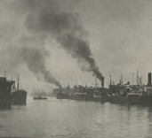 Photograph of middle harbour. Port of Blyth, Northumberland