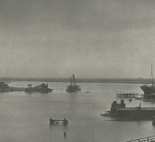Photograph of shipping in upper harbour. Port of Blyth Northumberland