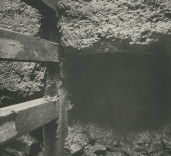 Photograph of undersetting of South Quay Wall, Blyth, Northumberland.