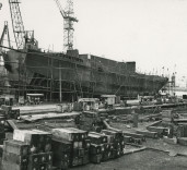 "Photograph of view of hull of ""Crofton"", Renfrew, Scotland."
