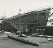 "Photograph of superstructure of ""Crofton"", Renfrew, Scotland."
