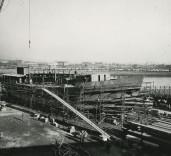 "Photograph of construction of deck of ""Crofton"", Renfrew, Scotland"