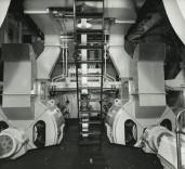 "Photograph of engine room on ""Crofton"", Renfrew, Scotland."