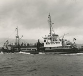 "Photograph of ""Crofton"", at sea, Renfrew, Scotland[?]"