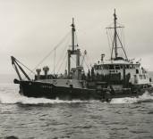 "Photograph of ""Crofton"" at sea, Renfrew, Scotland[?]"