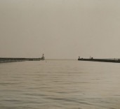 Photograph of Blyth Piers, Blyth Harbour, Blyth, Northumberland.