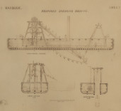 Photograph of proposed dredging machine, Blyth Harbour, Blyth, Northumberland.