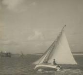 Photograph of yacht, Blyth Harbour, Blyth, Northumberland.