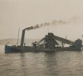 Photograph of dredger, Blyth Harbour, Blyth, Northumberland.
