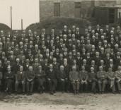 Photograph of dignitaries, Blyth, Northumberland.