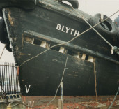 "Photograph of pilot cutter ""Blyth"" in Tyne Slipway, North Shields, Tyne & Wear"