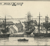 Photograph of sketch by Robert Bertram, Blyth Docks, Blyth, Northumberland.