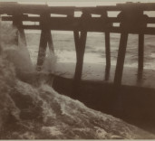Photograph of jetty, Blyth Harbour, Blyth, Northumberland.