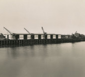 Photograph of slipway, Blyth Harbour, Blyth, Northumberland.