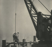 Photograph of steam crane, Blyth Harbour, Blyth, Northumberland.