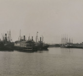 Photograph of various vessels, Blyth Harbour, Blyth, Northumberland.
