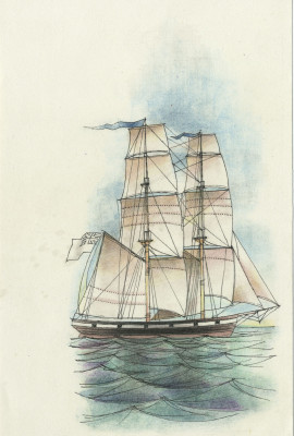 Smiths print of yacht
