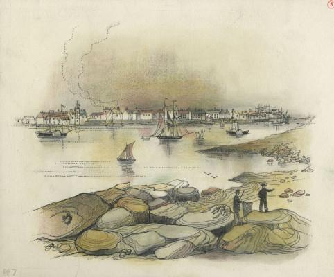 Smiths print of Blyth Harbour