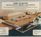 Photograph of  advertisement for Port of Blyth, Northumberland.
