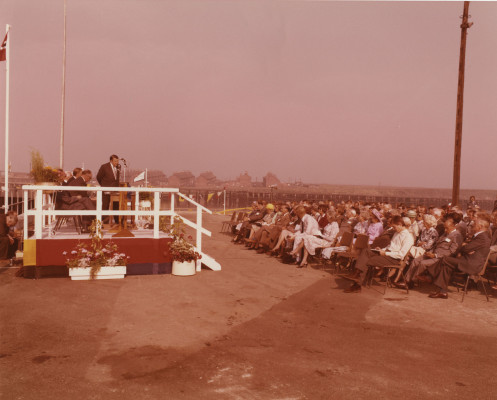 Photograph of official opening of Terminal