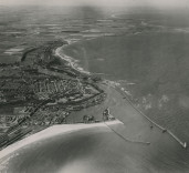 Aerial photograph of Blyth Harbour, Blyth. Northumberland.