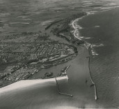 Aerial photograph of Blyth Harbour, Blyth, Northumberland.