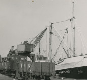 "Photograph of ship ""Fivelstad"", Blyth Harbour, Blyth, Northumberland."