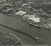 Photograph showing South Harbour and surrounding area, Blyth, Northumberland