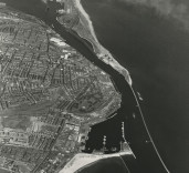 Photograph showing entrance to South Harbour, Blyth, Northumberland.