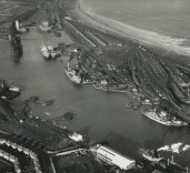 Photograph showing South Harbour and surrounding area, Blyth, Northumberland.