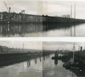 View of Harbour, Blyth, Northumberland.